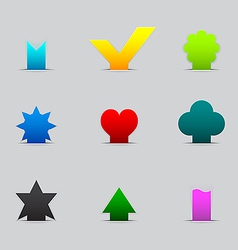Set of different tabs vector image vector image