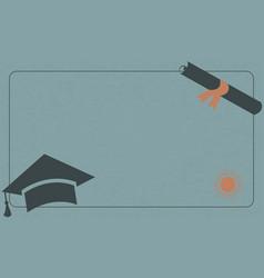 university paper background with graduation cap vector image vector image
