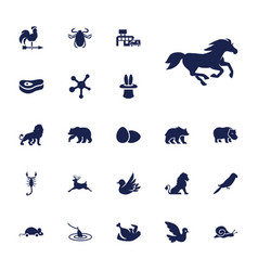22 animal icons vector
