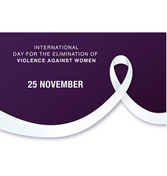 25 november international day for elimination vector image