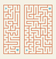 A set of rectangular colored labyrinths a simple vector