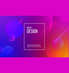 abstract background circles and lines in colors vector image