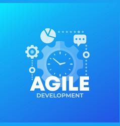 Agile software development process vector