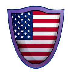 America shield icon realistic style vector