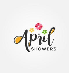April shower design for celebrate moment vector