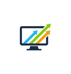 arrow computer logo icon design vector image