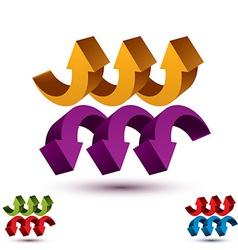 Arrows abstract symbol conceptual pictogram vector