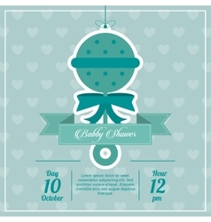 Baby Shower design maraca icon Blue vector image
