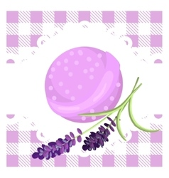 Bath bubble bomb aromatherapy bomb badge vector