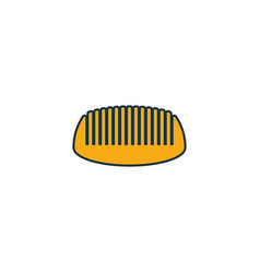 beard comb icon outline filled creative elemet vector image