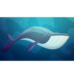 Big Fish Underwater Retro Cartoon vector image