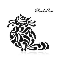 big graceful cat vector image