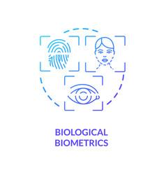 Biological biometrics concept icon vector