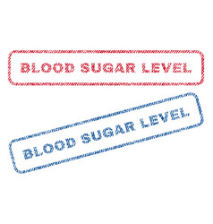 Blood sugar level textile stamps vector
