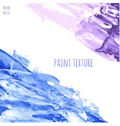 Blue and violet marble hand painted texture vector