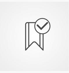 bookmark icon sign symbol vector image