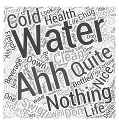 Bottled water company word cloud concept vector