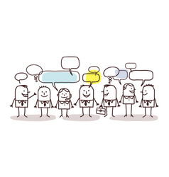 business people and social network vector image