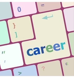 career button on the keyboard - business concept vector image