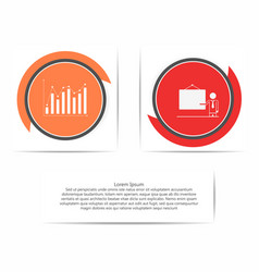 circle infographic template with presentation and vector image
