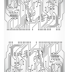 Circuit board background vector image