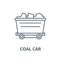 coal car line icon coal car outline sign vector image