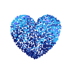 Colorful of blue heart vector