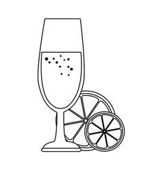 cup with orange juice vector image