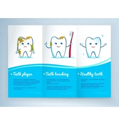Dental care leaflet design vector image