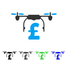 drone pound business flat icon vector image
