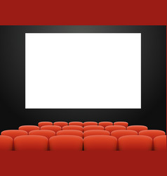 empty cinema hall armchair movie theatre realistic vector image