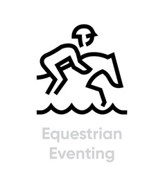 equestrian eventing sport icons vector image