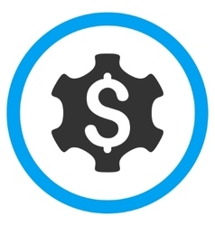 Financial Settings Flat Rounded Icon vector image