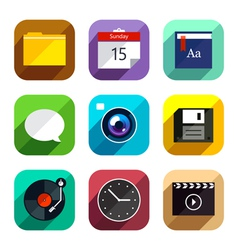 Flat App Icons Set 4 vector
