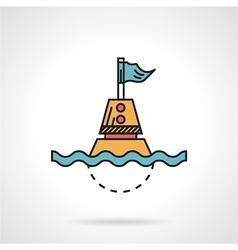 Flat design icon for maritime buoy vector