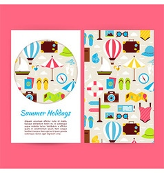 Flat Summer Holidays Banners Set Template vector image