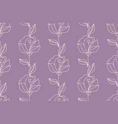 floral seamless pattern with roses flowers vector image