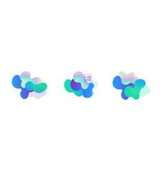 fluid and liquid shapes trendy design templates vector image