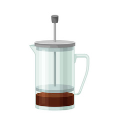 French press for making tea or coffee vector