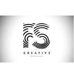fs lines warp logo design letter icon made vector image