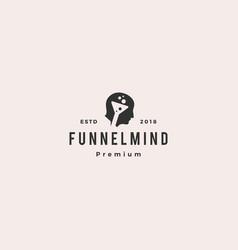 funneling mindset logo icon vector image