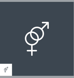 gender symbol related glyph icon vector image