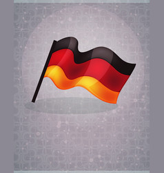german flag on abstract background vector image