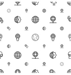 globe icons pattern seamless white background vector image