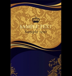 golden design background vector image