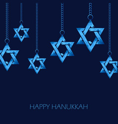 Happy hanukkah jewish holiday background with vector