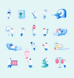 hospital healthcare staff set male female doctors vector image