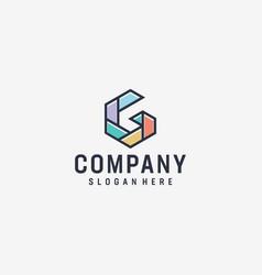 inspirational g letter modern logo design vector image