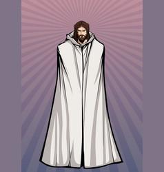 Jesus standing tall vector