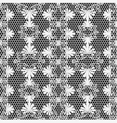 lace textured black and white elegance floral vector image